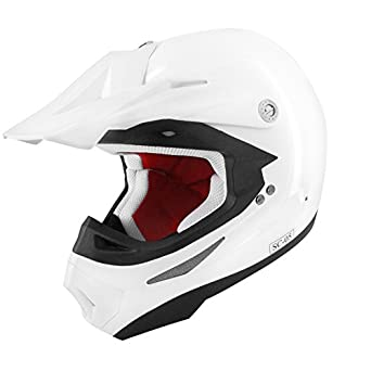 CASQUE CROSS TNT SC05 BLANC BRILLANT UNI XL