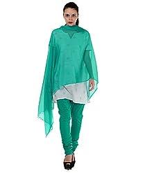 MemSahiba Women Plain Cotton Chudidaar Dupatta Combo (MS-1387_Sea Green)