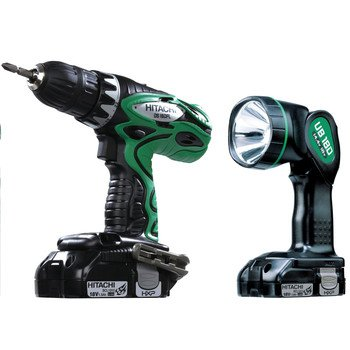 Hitachi Ds18Dfls 18V Hxp Lithium-Ion 1.5 Ah Drill Driver With Drill Bit Set