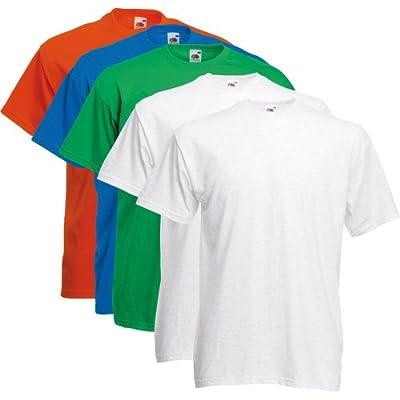 Fruit of the Loom T-Shirts 5 Pack - Super Premium T - color set 7