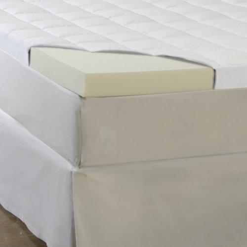Sleep Comfort 4.5-Inch Memory Foam And Fiber Topper, King front-156671