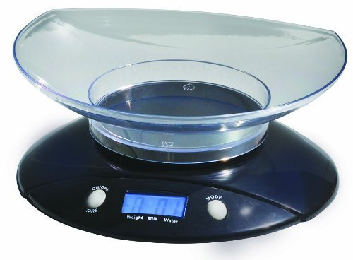 BuyDirect2You Black Digital Kitchen Scale with Bowl by BuyDirect2You