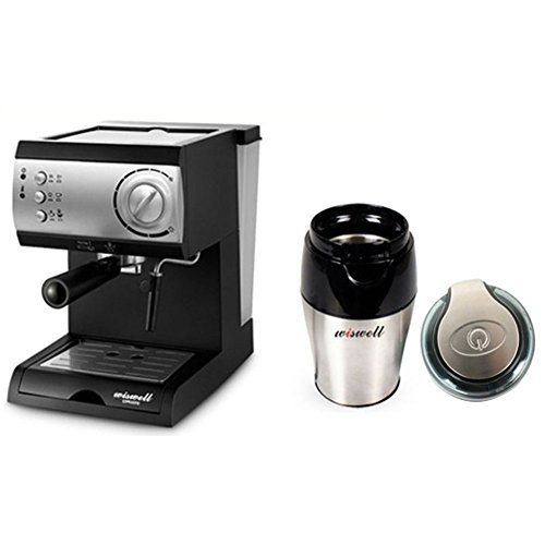 WISWELL Semi Automatic Espresso Machine Milk Steamer DL-310 &WISWELL Semi Automatic Espresso Machine Milk Steamer DL-310 & & Wiswell Grinder (Sp-7426) Plus Simple English User's Guide