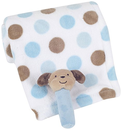 Carter's Boa Blanket with Rattle, Aviator Puppy (Discontinued by Manufacturer)