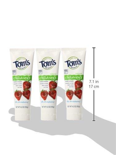 Tom's of Maine 草莓口味 无氟儿童牙膏 119g*3支图片