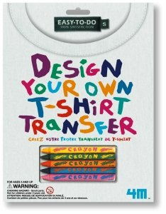 Design Your Own T-Shirt Transfer - Fabric Crayons