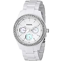 White dial quartz watch by Fossil
