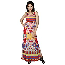 LALANA Multicolor Abstract Print Polyester Dress