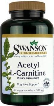 Swanson Premium Acetyl L-Carnitine - 500mg, 100 Vegetarian Capsules