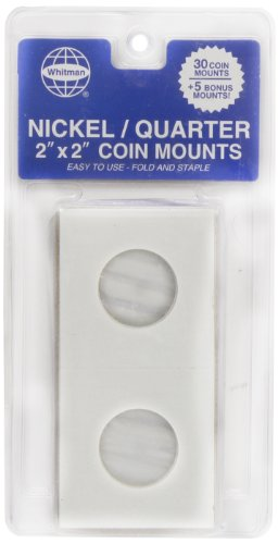 Whitman 35 Count Mylar Nickel & Quarter Coin Holders