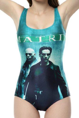 Ndb The Matrix Movie Poster Print One Piece Swimsuit Swimwear Bath Clothing