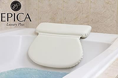 Top Rated Luxury Spa Bath Pillow Large-Strongest Suction Cups -Most Comfortable Size and Thickness
