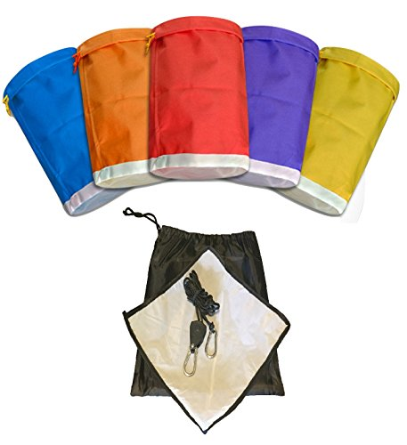 Happy Hydro Herbal Ice Bubble Bags 5 Gallon Hash Extraction Kit with Pressing Screen, Hanging Ratchet Strap and Carrying Pouch (Dry Ice Bags compare prices)