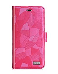 Galaxy S6 Edge Plus Case, FYY [Top-Notch Series] Premium PU Leather Wallet Flip Case Stand Cover for Samsung Galaxy S6 Edge Plus Noble Magenta