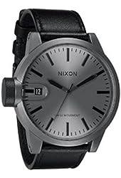 NIXON Men's NXA1271062 Matte Gunmetal Ion-Plated Case Watch