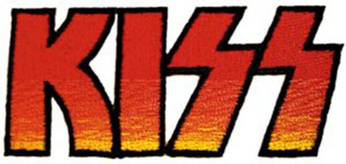 Application Kiss Logo Patch
