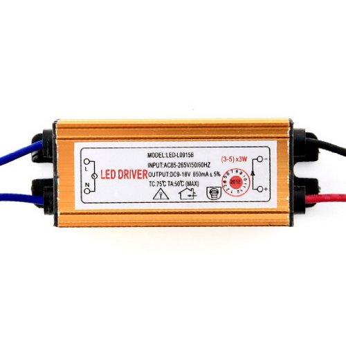 Dehang Waterproof 15W 650Ma Led Light Lamp Power Supply Driver Dc 9-18V Ac 110V 220V