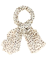 M&S Collection Lightweight Ditsy Butterfly Print Scarf