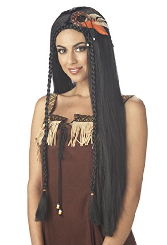 Halloween 2017 Disney Costumes Plus Size & Standard Women's Costume Characters - Women's Costume CharactersPrincess Native American Halloween Costume Wig - Black