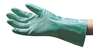 SAS Safety 6532 Flock Lined Nitrile Chemical Gloves, Medium