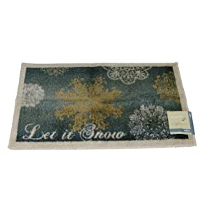 Mohawk Let It Snow Throw Accent Rug Snowflake with Non-Skid Back