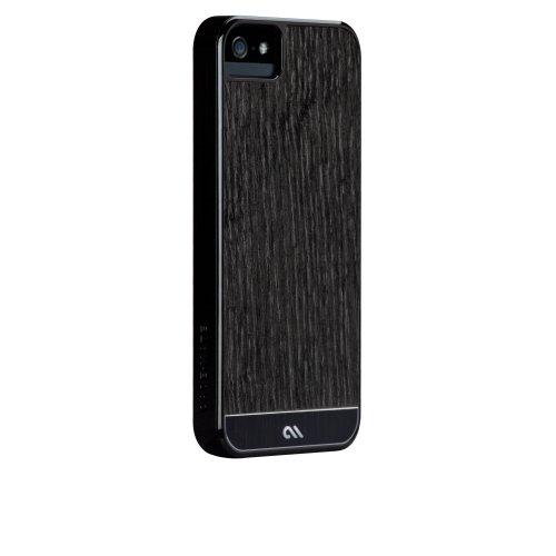 Case-Mate 日本正規品 iPhone5 Artistry Woods Case, Blackened Ash アーティストリーウッズ ケース【天然木素材+アルミニウム素材+強化プラスティックフレーム素材のハイブリッドケース】