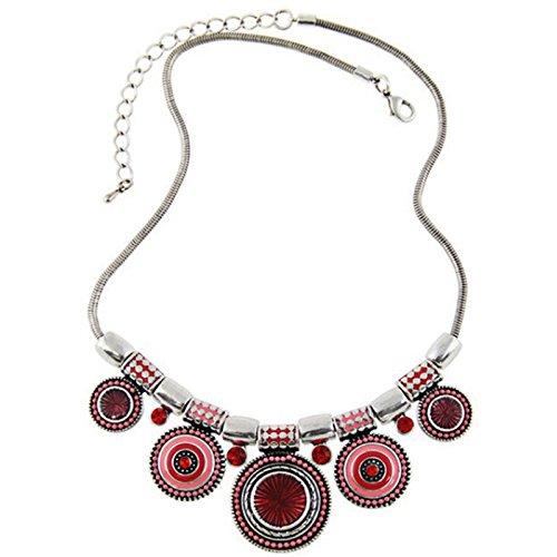 chicmall-fashion-women-bohemia-pendant-charm-chain-choker-chunky-statement-bib-necklace-red