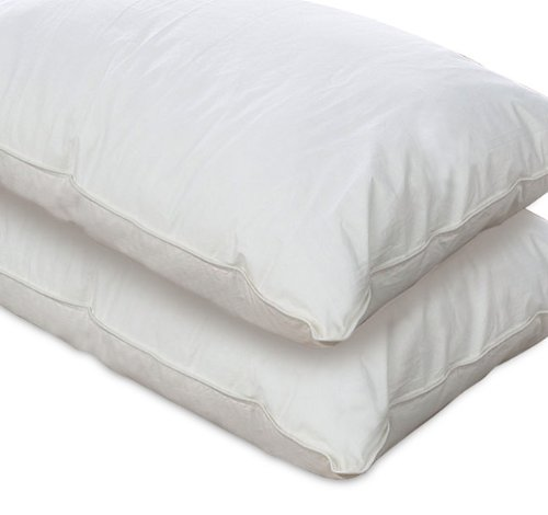 European Comfort 100% Hypoallergenic Slumber Down Alternative Bed Pillows, STANDARD Set of 2
