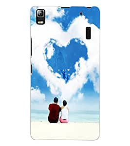 ColourCraft Loving Couple Design Back Case Cover for LENOVO A7000