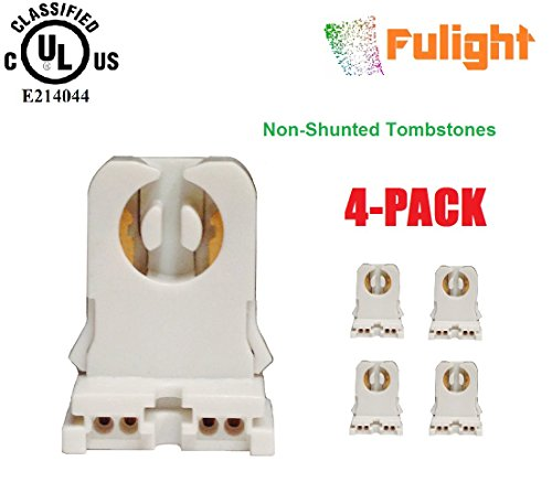 4-Pack of Fulight -UL Listed- Non-Shunted T8