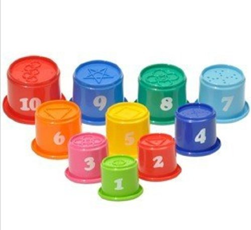 Big Dragonfly Children'S Educational Toys A Set Of 10 Fun And Colorful Stacking Cups Safe And Interesting Baby Learning Toy (Pakage In Chinese) front-962523