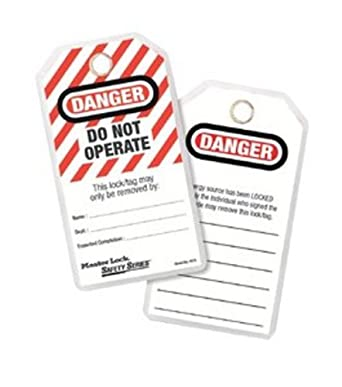 "Master Lock Heavy Duty ""Danger"" Tag, Polyester, 5-3/4"" Height, 3"" Width"