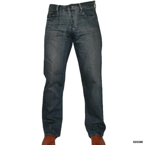 Mens C3NTR4L Stylish Straight Leg Denim Jeans Size 34 Regular