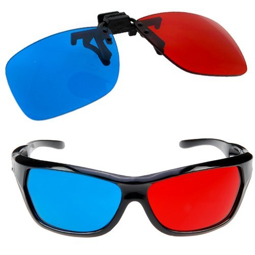 SODIAL- 2x Red and Cyan Glasses Fits over Most