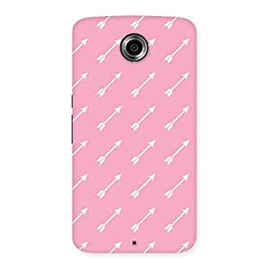 Stylish Pink And Arrow Multicolor Back Case Cover for Nexsus 6