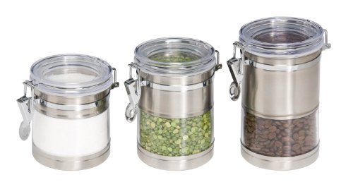 Steel Canister Set - 4pc Clear