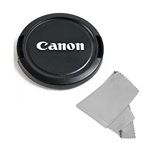 CowboyStudio 58MM Lens Cap Snap-On for CANON Rebel (T4i T3i T3 T2 T2i T1i XT XTi), CANON EOS (1100D 650D 600D 550D 500D 450D 400D 350D) + Microfiber Cleaning Cloth