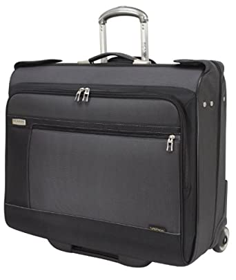 Ricardo Beverly Hills Venice Lite Luggage 42-Inch Rolling Garment Bag, Charcoal/Midnight Black