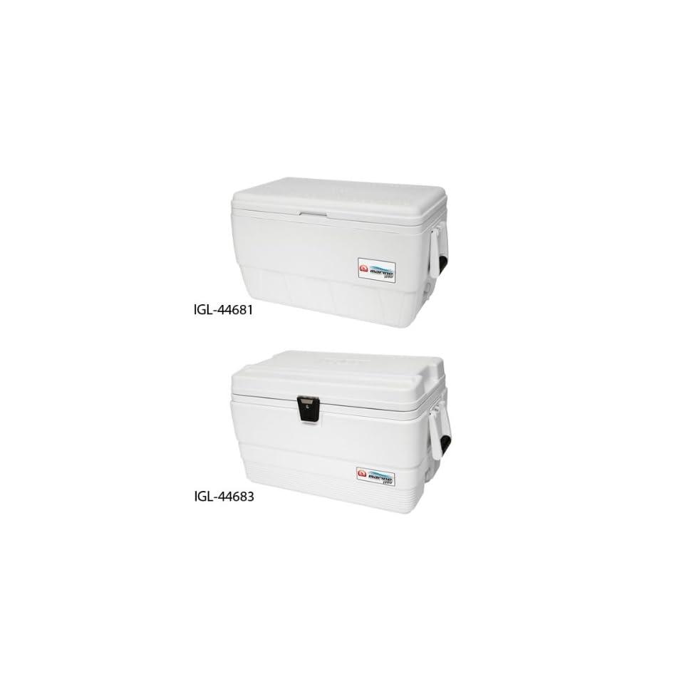Chest Cooler, Marine, 72 qt., White