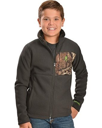Browning Buckmark Boys' Gila Camo Jacket Grey Medium (Ford Edge Jacket compare prices)