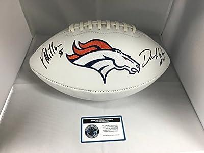 Von Miller DeMarcus Ware Dual Autographed Signed Denver Broncos Logo Football COA & Hologram
