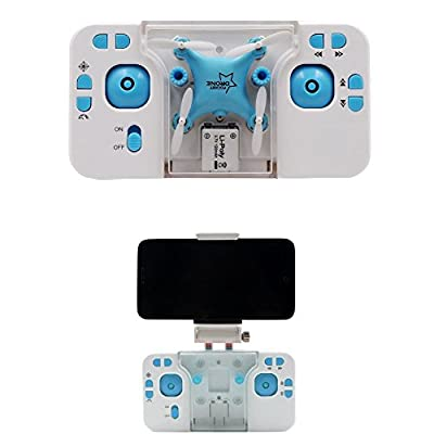 LS RC Mini drone with Camera Live Video Funny FPV Mini Rc Quadcopter with Camera Transmission by Smartphone - Blue