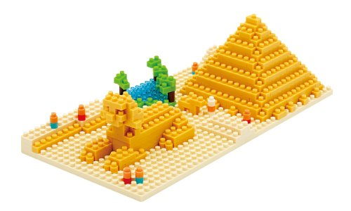 Kawada NBH-033 Nanoblock Gizas Big Pyramid Building Kit