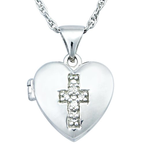 Sterling Silver Diamond Pendant Necklace (0.05 cttw, I-J Color, I2-I3 Clarity)