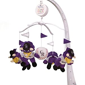 Colorado Rockies Musical Baby Crib Mobile Plush by MLB