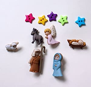 Rainbow Loom Band Christmas Nativity Jesus Charms for You Rubberband Bracelet By Rainbow Charms