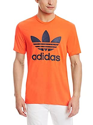 adidas Camiseta Manga Corta Org Trefoil (Naranja)