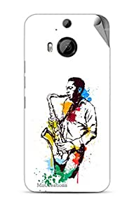 Miicreations Mobile Skin Sticker For HTC One M9 Plus,Music Lover Pattern