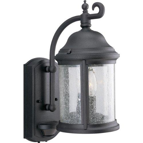 Progress Lighting P5854-31 2 Light Ashmore Collection Wall Lantern with Motion Sensor, Textured Black