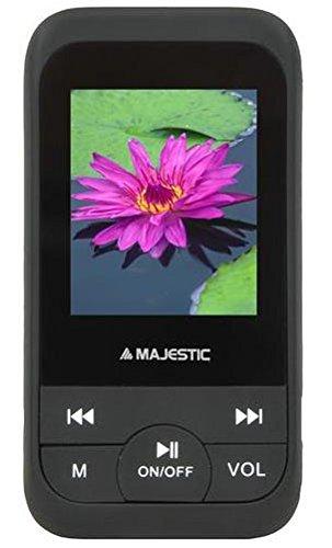 """Majestic 118071_BK Lettore MP3 e MP4 con Display LCD a Colori 1.8"""", Radio FM e Registratore Vocale, 8 GB Nero"""